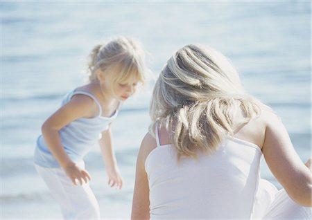 Woman and girl at seaside Stock Photo - Premium Royalty-Free, Code: 696-03400119