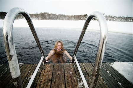 Winter bathing Stock Photo - Premium Royalty-Free, Code: 698-05959458