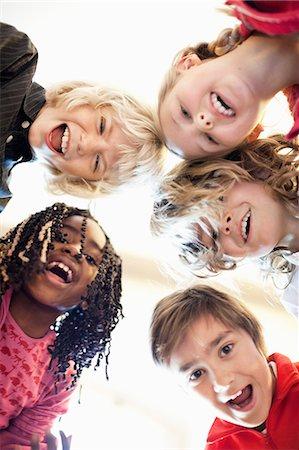 Portrait of multi ethnic friends Stock Photo - Premium Royalty-Free, Code: 698-06117237