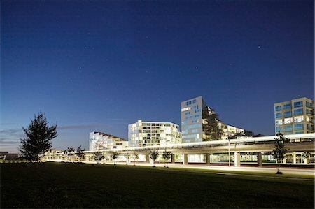 Illuminated skyline of city against clear sky Stock Photo - Premium Royalty-Free, Code: 698-06374797