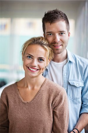 stockholm - Portrait of happy young Caucasian couple standing together Stock Photo - Premium Royalty-Free, Code: 698-06444250