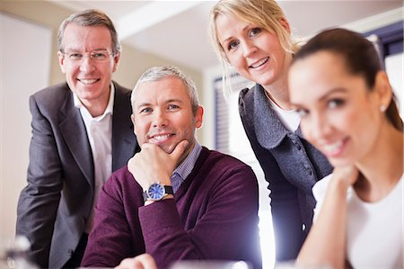 Portrait of business people in a meeting Stock Photo - Premium Royalty-Free, Code: 698-06616097