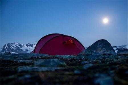 Tent on mountain at night Stock Photo - Premium Royalty-Free, Code: 698-07158627