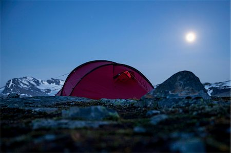 Tent on mountain at night Stock Photo - Premium Royalty-Free, Code: 698-07158627