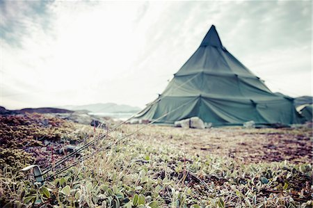 View of camping tent Stock Photo - Premium Royalty-Free, Code: 698-07439476