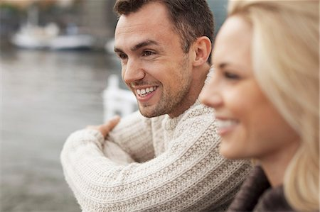 Happy young couple outdoors Stock Photo - Premium Royalty-Free, Code: 698-07587945