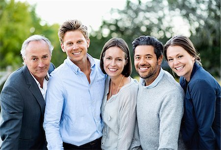 Group portrait of business people outdoors Stock Photo - Premium Royalty-Free, Code: 698-07588080