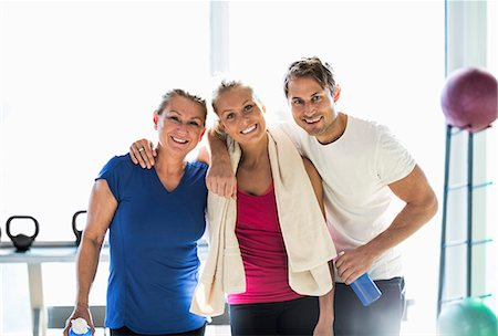 Portrait of happy friends at health club Stock Photo - Premium Royalty-Free, Code: 698-07588319