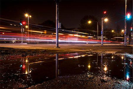 Traffic light trails on street at night Stock Photo - Premium Royalty-Free, Code: 698-07813040