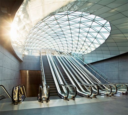 Escalators in Triangeln station Stock Photo - Premium Royalty-Free, Code: 698-08803693