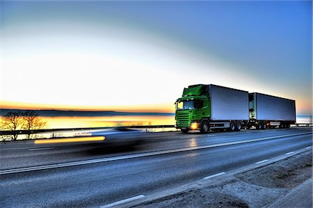Long-distance lorry against sky Stock Photo - Premium Royalty-Free, Code: 698-03656890