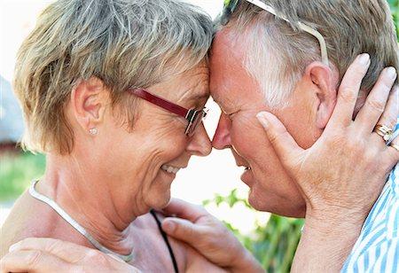 Closeup on happy couple Stock Photo - Premium Royalty-Free, Code: 698-03658010