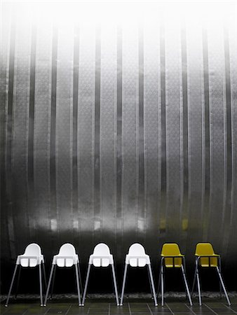 High chairs in a row Stock Photo - Premium Royalty-Free, Code: 698-03670721