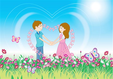 Couple holding hands,face to face Stock Photo - Premium Royalty-Free, Code: 690-03235379