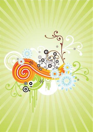 flower graphic - Digital composite background Stock Photo - Premium Royalty-Free, Code: 690-03235565
