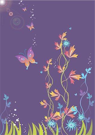 Flower pattern Stock Photo - Premium Royalty-Free, Code: 690-03475725