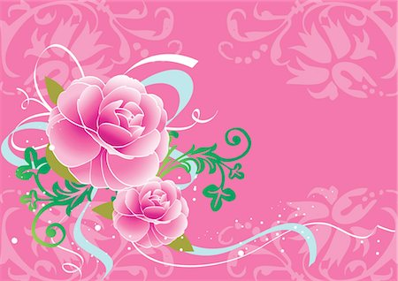 peony illustrations - Flower pattern Stock Photo - Premium Royalty-Free, Code: 690-03475938