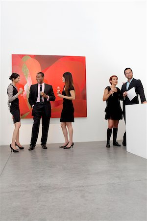 exhibition - Group of people in art art gallery Stock Photo - Premium Royalty-Free, Code: 693-05552753