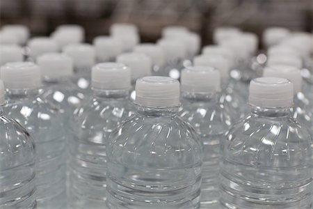 Close-up view of bottles of water Stock Photo - Premium Royalty-Free, Code: 693-05794245