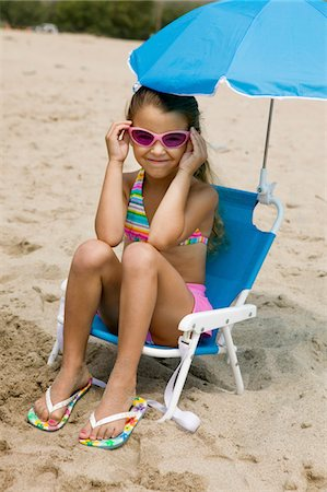 preteen thong - Little Girl on Beach Stock Photo - Premium Royalty-Free, Code: 693-06014056