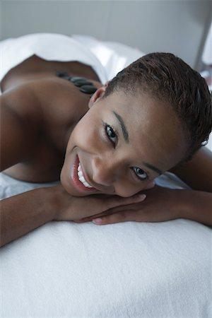 Portrait of woman having back massage Stock Photo - Premium Royalty-Free, Code: 693-06016515