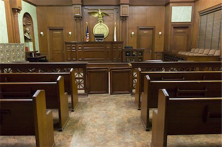 front row seat - Court room seating Stock Photo - Premium Royalty-Free, Code: 693-06020936