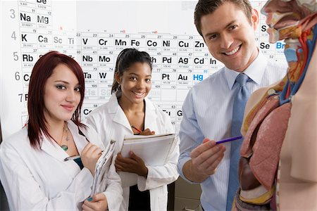 Teacher Giving Anatomy Lesson Stock Photo - Premium Royalty-Free, Code: 693-06021078