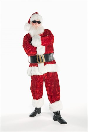 Santa Claus wearing sunglasses Stock Photo - Premium Royalty-Free, Code: 693-06021818