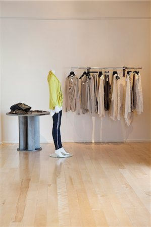 Interior of a fashionable clothes boutique Stock Photo - Premium Royalty-Free, Code: 693-06121228