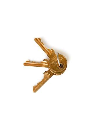 Set of keys over white background Stock Photo - Premium Royalty-Free, Code: 693-06324356