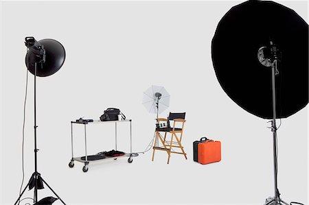 photograph - Lighting equipments in photographer's studio Stock Photo - Premium Royalty-Free, Code: 693-06324853
