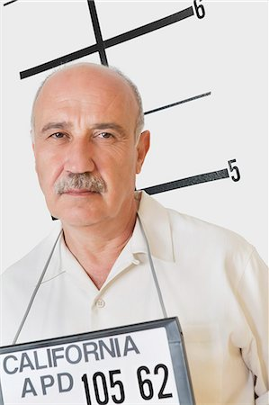 Mug shot of senior man Stock Photo - Premium Royalty-Free, Code: 693-06378940