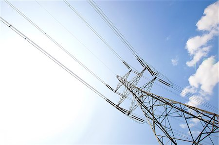 Electricity Pylon against clear sky Stock Photo - Premium Royalty-Free, Code: 693-07444395