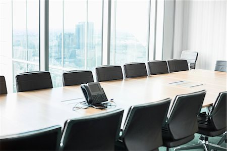 empty - Empty conference room with telephone Photographie de stock - Premium Libres de Droits, Code: 693-07913228