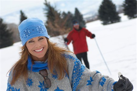 Portrait of smiling mature woman cross country skiing Stock Photo - Premium Royalty-Free, Code: 693-03300123