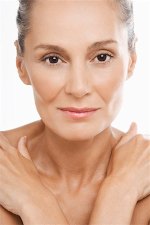 Beauty portrait of youthful looking mature woman Stock Photo - Premium Royalty-Free, Code: 693-03302818