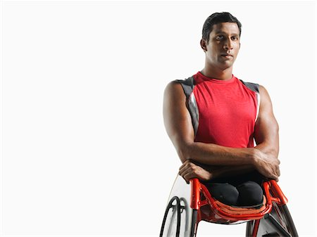 paraplegic male model - Paraplegic cycler, portrait Stock Photo - Premium Royalty-Free, Code: 693-03302968