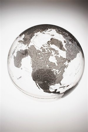 Inflatable Globe showing North America Stock Photo - Premium Royalty-Free, Code: 693-03303019