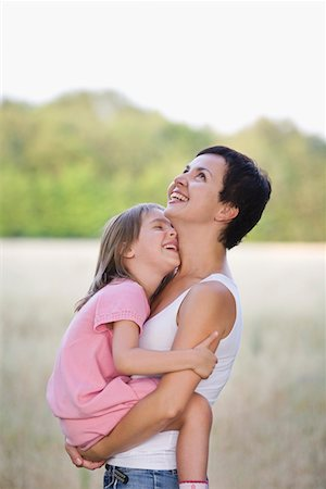 Mother and Daughter Laughing Stock Photo - Premium Royalty-Free, Code: 693-03314009