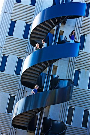 spiral - Modern staircase on university campus Stock Photo - Premium Royalty-Free, Code: 693-03317302