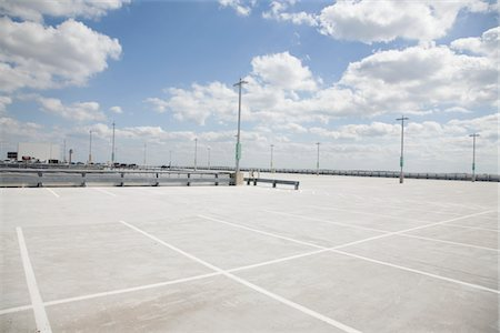 Empty parking lot Stock Photo - Premium Royalty-Free, Code: 693-03317964