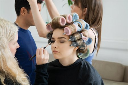 Models Being Prepared for Photo Shoot Stock Photo - Premium Royalty-Free, Code: 693-03313251