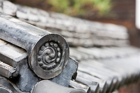 swirly - Detail on End of Roof Gable in Japan Stock Photo - Premium Royalty-Free, Code: 693-03313511
