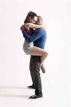 Modern dance couple embrace Stock Photo - Premium Royalty-Free, Code: 693-03474512