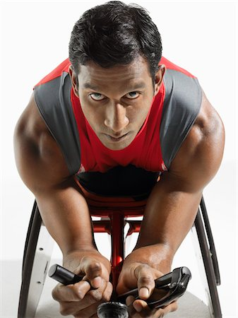 paraplegic male model - Paraplegic cycler Stock Photo - Premium Royalty-Free, Code: 693-03565372
