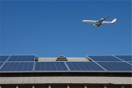 solar panel usa - Aeroplane and rooftop with solar array, Inglewood, Los Angeles, California Stock Photo - Premium Royalty-Free, Code: 693-03643976
