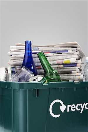 Full Recycling Container Stock Photo - Premium Royalty-Free, Code: 693-03707890