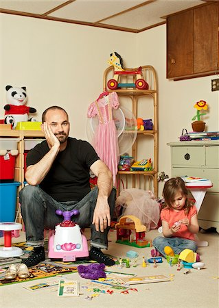Father and Daughter in Playroom Stock Photo - Rights-Managed, Code: 700-04003400