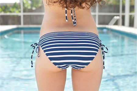 Close Up of Teenage Girl's Bottom in Bikini Stock Photo - Rights-Managed, Code: 700-04163453