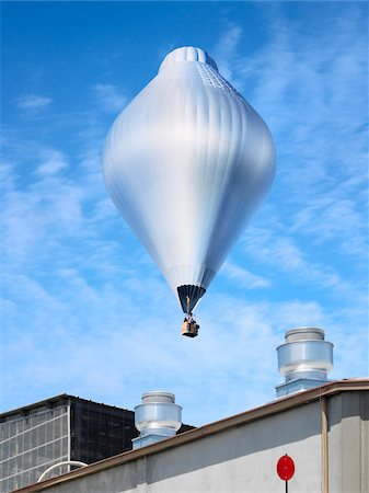 Hot Air Balloon over Factories, Oakland, California, USA Stock Photo - Rights-Managed, Code: 700-04223552